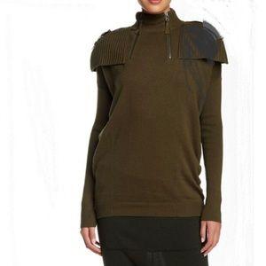 L.A.M.B. Gwen Stephani epaulet turtleneck sweater